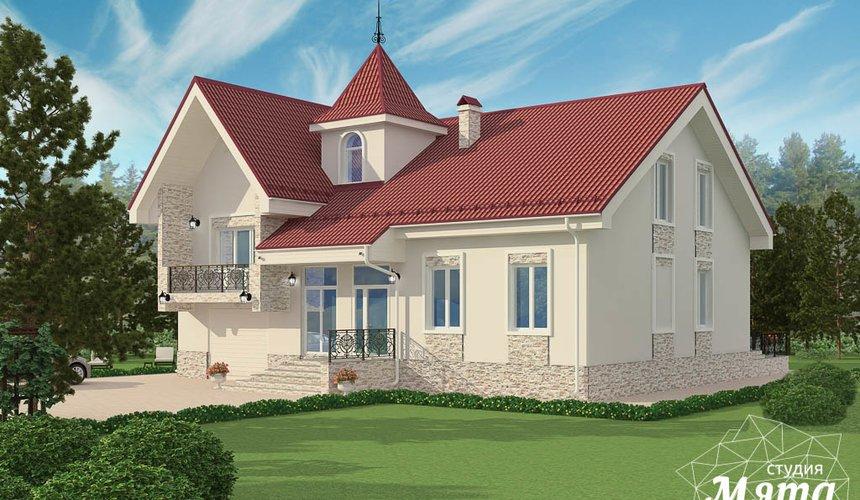 Дизайн фасада коттеджа 195 м2 в Москве 5