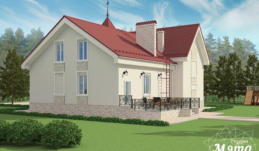 Дизайн фасада коттеджа 195 м2 в Москве 6