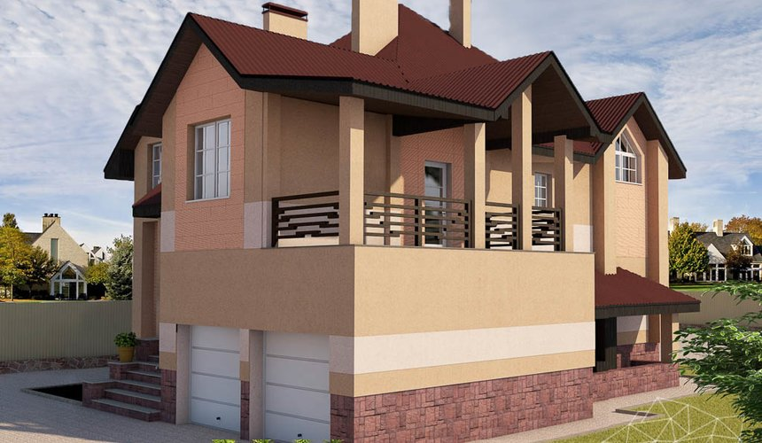 Дизайн проект фасада дома 215 м2 в п. Санаторный 33