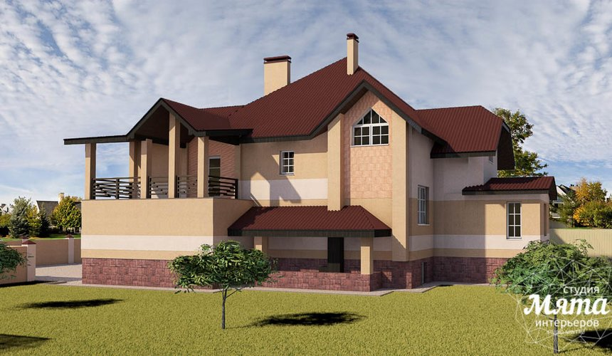 Дизайн проект фасада дома 215 м2 в п. Санаторный 34
