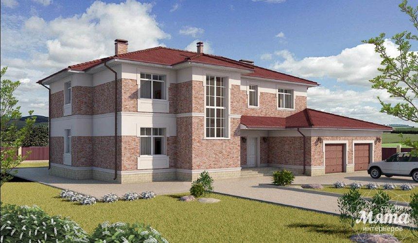 Дизайн фасада коттеджа 379 м2 в п. Мельница 2