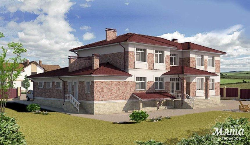 Дизайн фасада коттеджа 379 м2 в п. Мельница 3