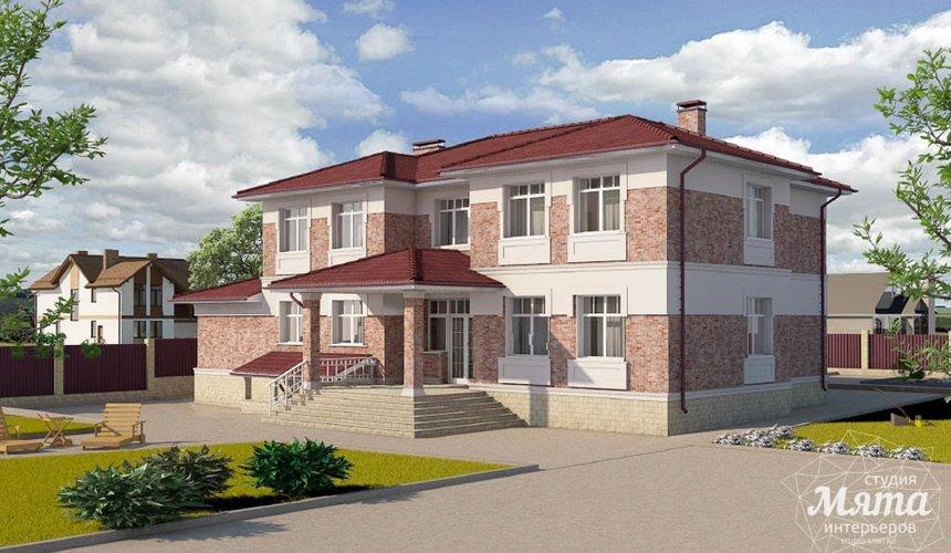 Дизайн фасада коттеджа 379 м2 в п. Мельница 4