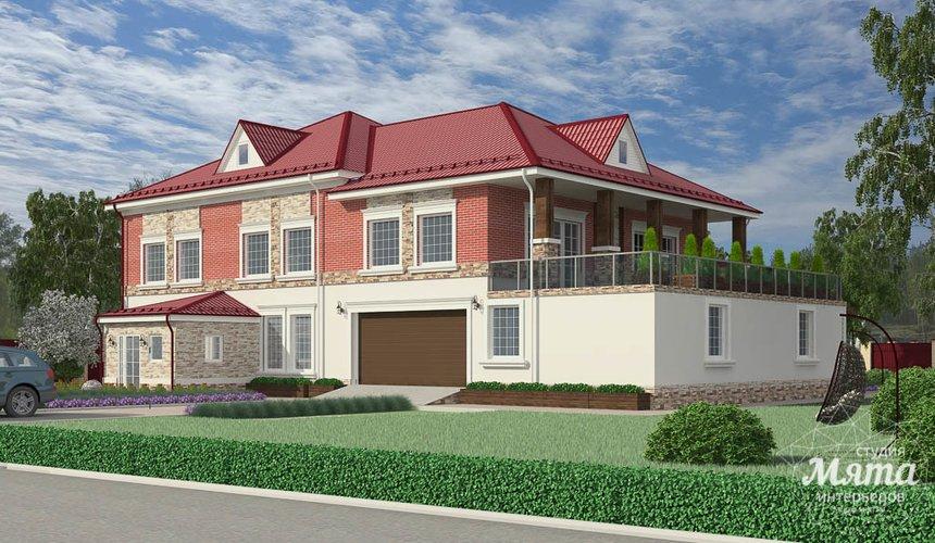 Дизайн фасада дома 532 м2 и бани 152 м2 г. Арамиль 8