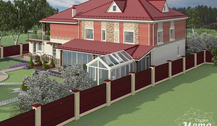 Дизайн фасада дома 532 м2 и бани 152 м2 г. Арамиль 10