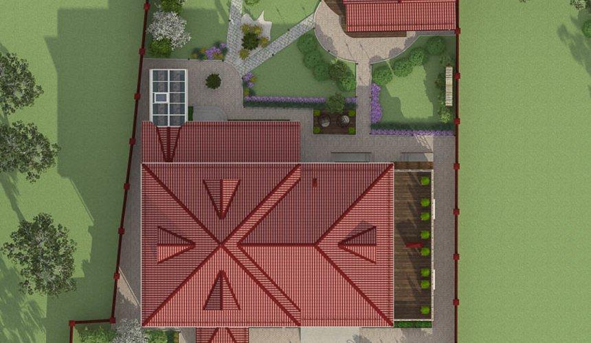 Дизайн фасада дома 532 м2 и бани 152 м2 г. Арамиль 12