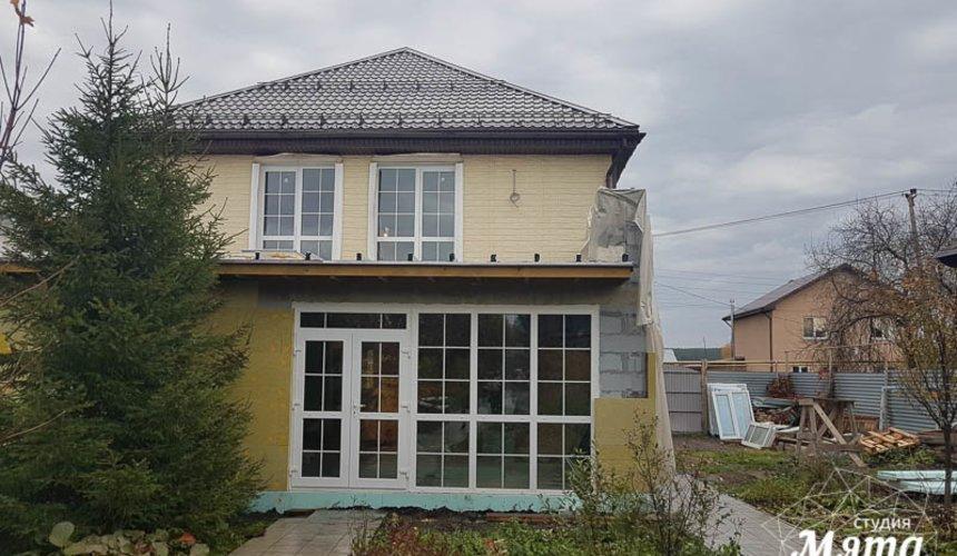 Дизайн фасада коттеджа 200 м2 в г. Тюмень 5
