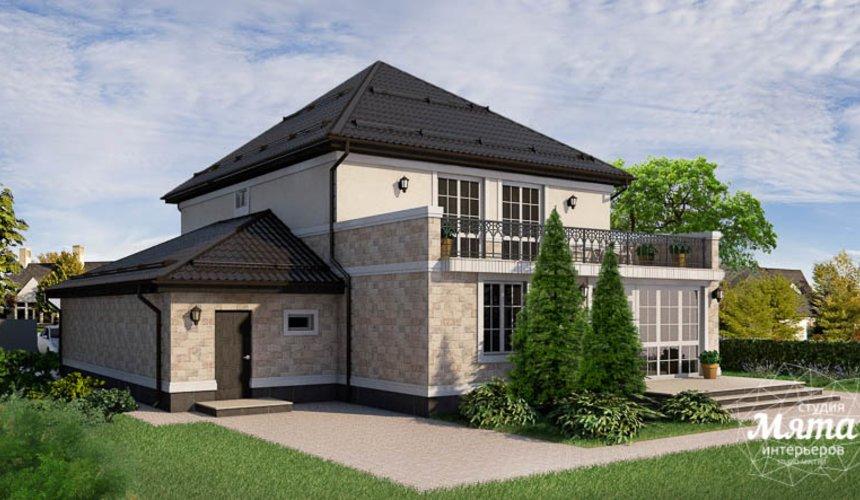 Дизайн фасада коттеджа 200 м2 в г. Тюмень 9