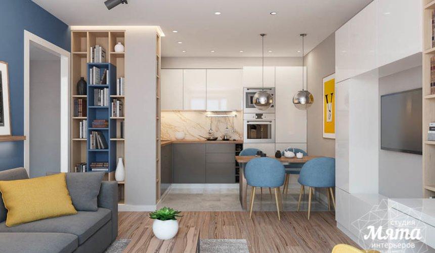 Дизайн интерьера двухкомнатной квартиры в ЖК Солнечный 4
