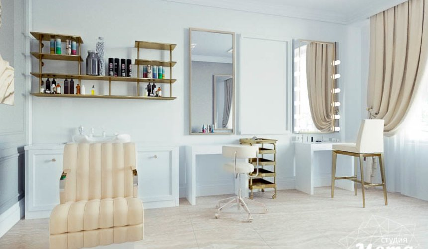 Дизайн интерьера и ремонт салона красоты в ЖК Флагман 37