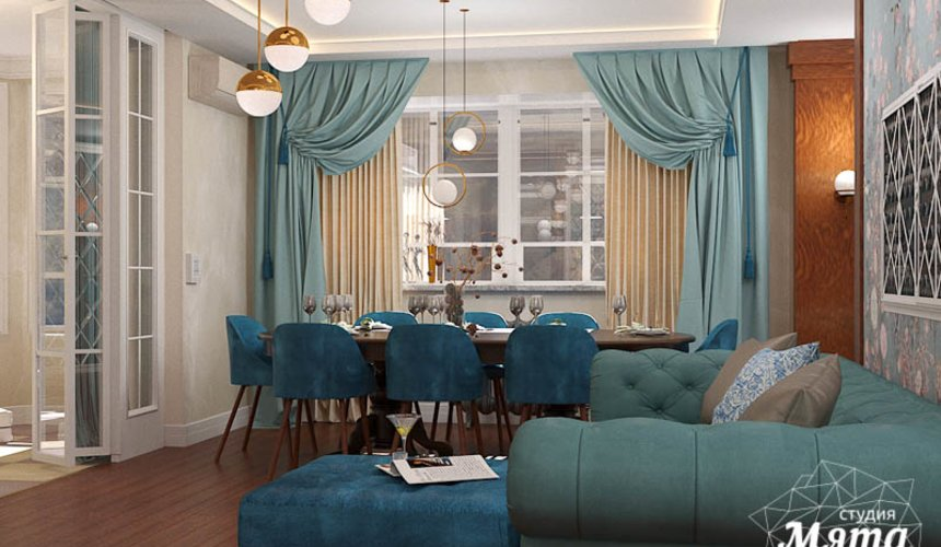 Дизайн интерьера квартиры в стиле современной классики в ЖК Вивальди 8