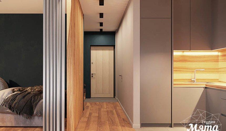 Дизайн интерьера квартиры - студии в ЖК Солнечный 11