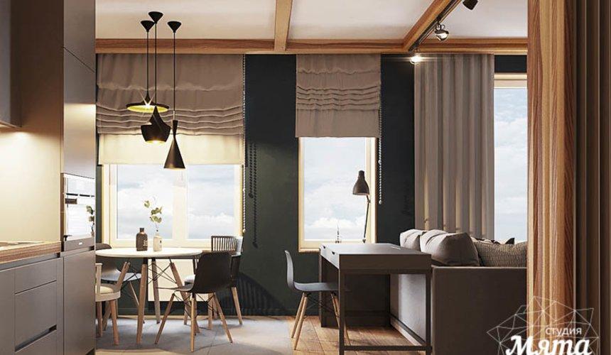 Дизайн интерьера квартиры - студии в ЖК Солнечный 7