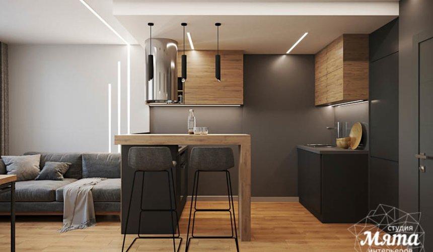 Дизайн интерьера однокомнатной квартиры в ЖК Оазис 5