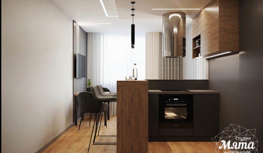 Дизайн интерьера однокомнатной квартиры в ЖК Оазис 7