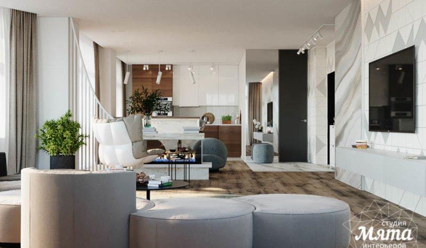 Дизайн интерьера трехкомнатной квартиры в ЖК Чемпион Парк 5