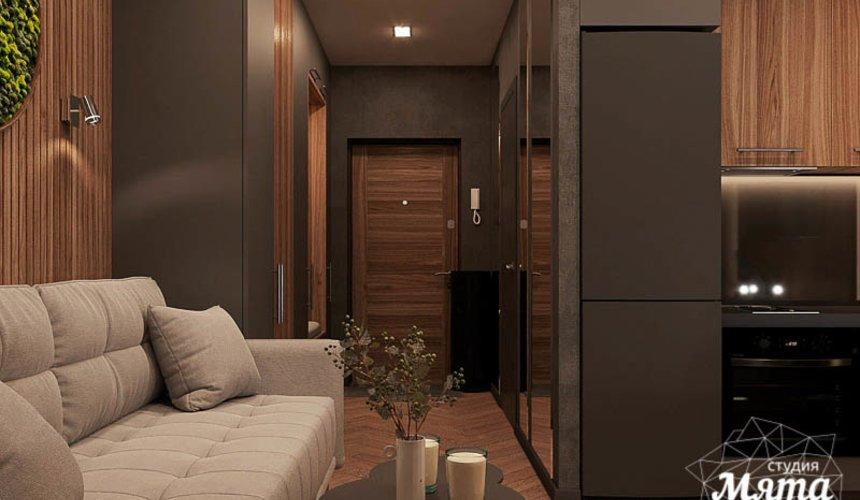 Дизайн интерьера квартиры - студии в ЖК Гринвуд 7
