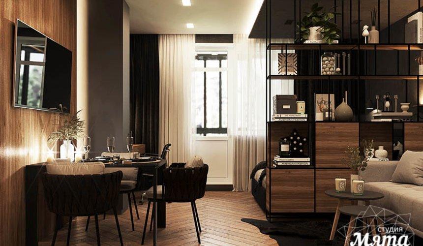 Дизайн интерьера квартиры - студии в ЖК Гринвуд 12