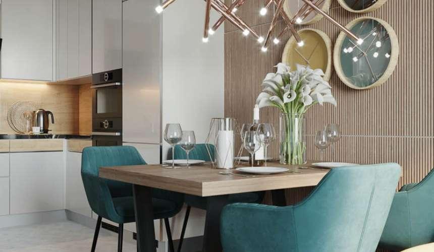 Дизайн интерьера двухкомнатной квартиры в ЖК Репин Парк 3