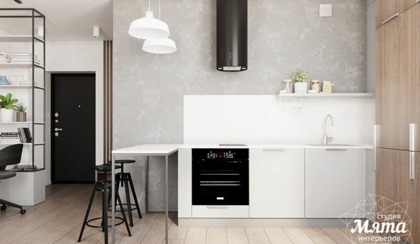 Дизайн интерьера квартиры - студии в ЖК Стрелки 9