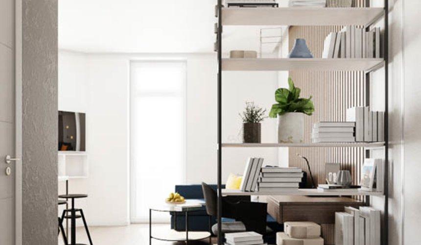 Дизайн интерьера квартиры - студии в ЖК Стрелки 12