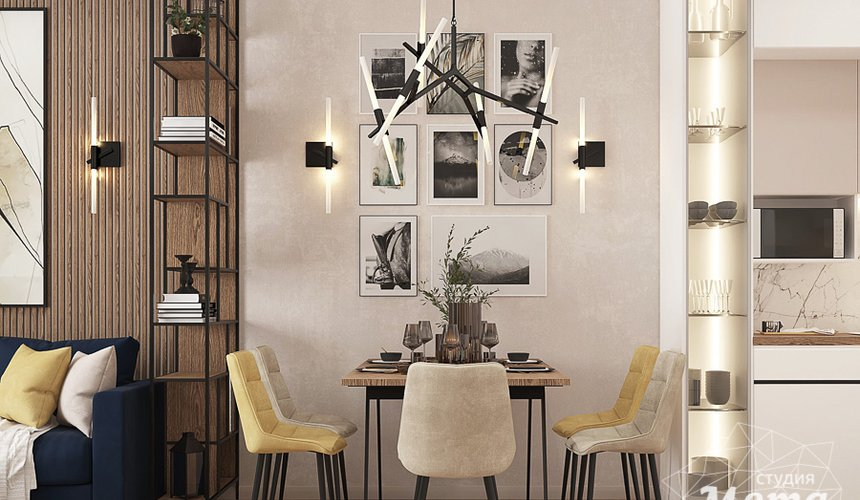 Дизайн интерьера трехкомнатной квартиры в ЖК Клевер Парк 10