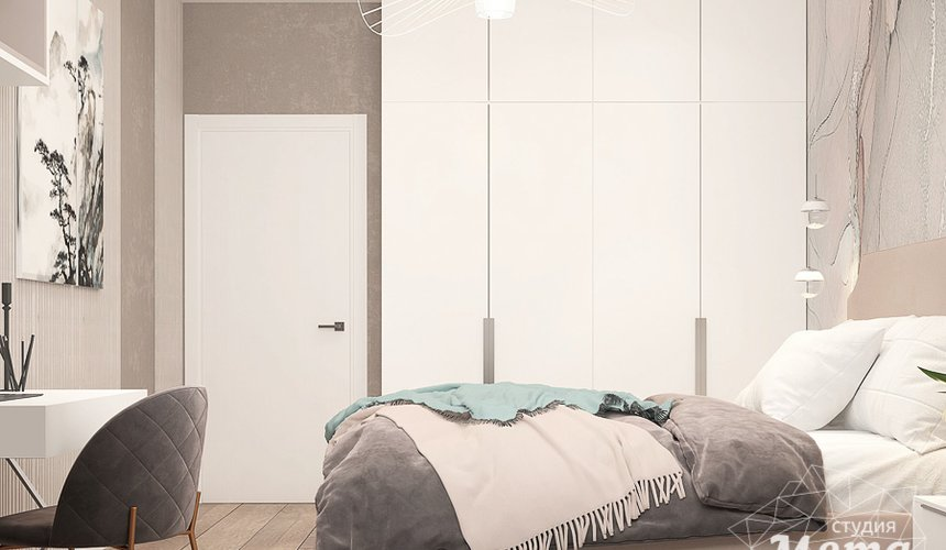 Дизайн интерьера трехкомнатной квартиры в ЖК Клевер Парк 16