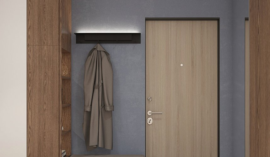 Дизайн интерьера трехкомнатной квартиры в ЖК Клевер Парк 22