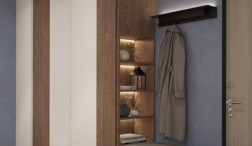 Дизайн интерьера трехкомнатной квартиры в ЖК Клевер Парк 23