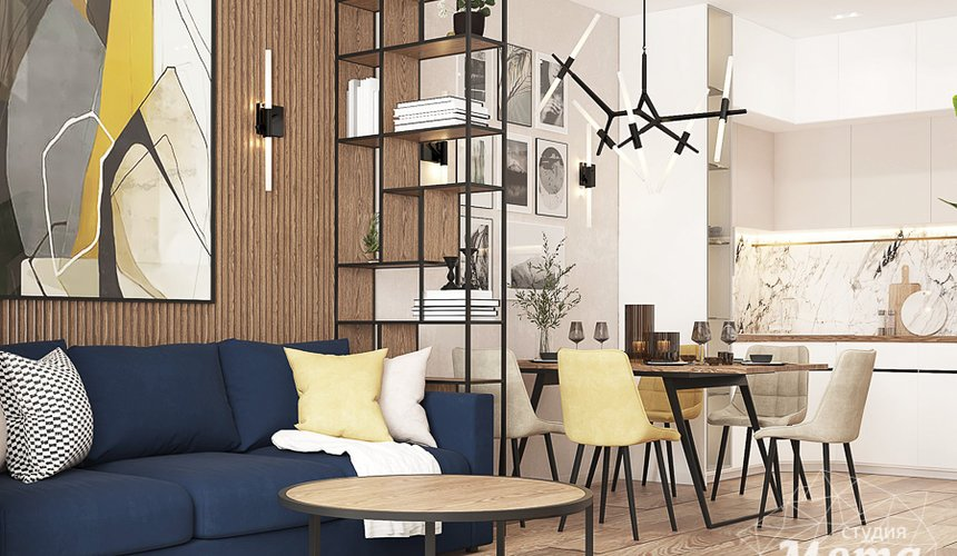 Дизайн интерьера трехкомнатной квартиры в ЖК Клевер Парк 3
