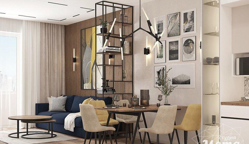 Дизайн интерьера трехкомнатной квартиры в ЖК Клевер Парк 7