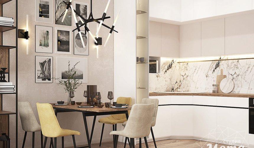 Дизайн интерьера трехкомнатной квартиры в ЖК Клевер Парк 8